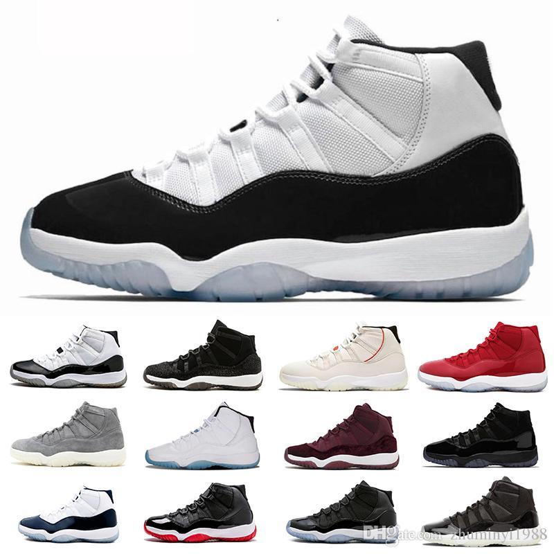 nouveau style 63189 d5fa4 Nike Air Jordan 11 Retro Haute Qualité 11 Space Jam Bred Gamma Bleu  Chaussures De Basket-ball Hommes Femmes 11s Concords 72-10 Légende Bleu  Cool Gris ...
