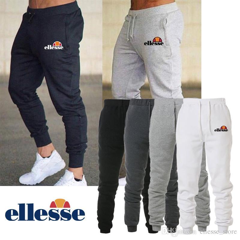 bd75ce408e Ellesse Brand Mens Pants Black White Grey Italy Brand Men Designer Jogging  Pants Summer Autumn Sports Jogger S-3XL