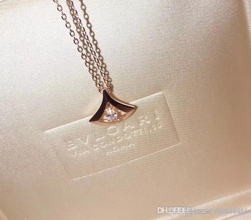 6e83ee990407 Compre Nuevo Collar Para Mujer Joyas Para Mujer Dama De Lujo 925 Plata  Italia BV Collana Colgantes Cadena De Oro Pendentif Damas Collier Femme  Caja Original ...