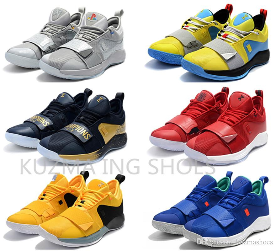 premium selection 0d155 9e4ad PG 2.5 Basketball Shoes Paul George Sneakers Mens Fresno St. Bulldogs  Playstation Space Jam Moon Exploration The Finals PG 2 Trainers Shoes