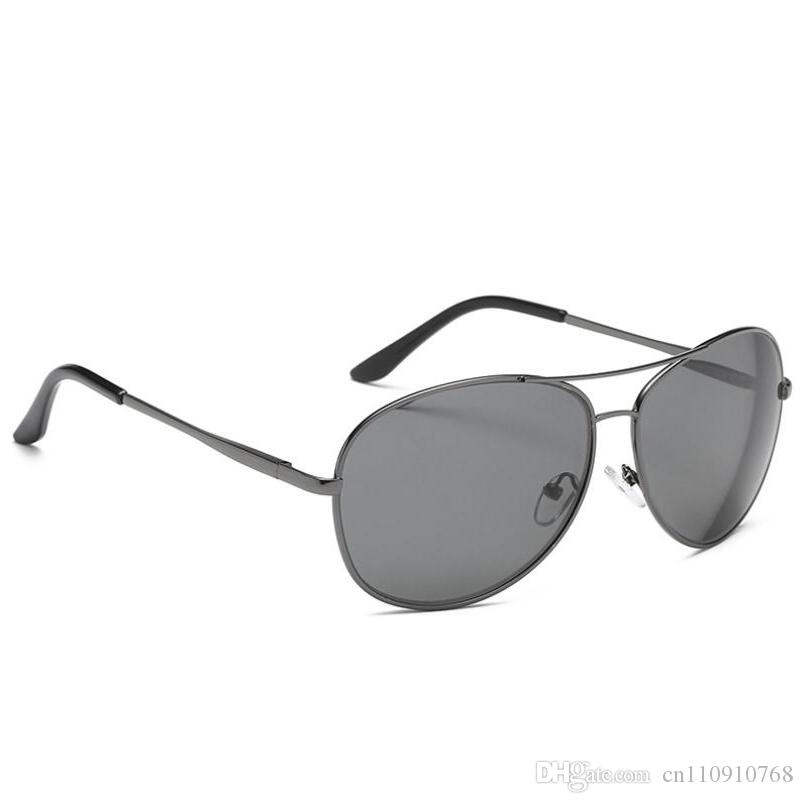 7f1e54a06d0d2 AAB03P Pilot Metal Polarized Sunglasses UV400 Lens Spring Hinge Men Alloy  Driving Beach Fishing FDA BOTERN.Com Prescription Sunglasses Online Black  ...