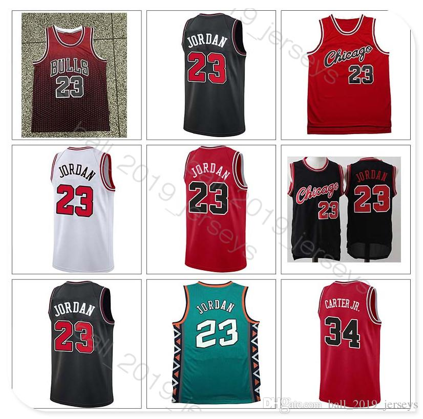 size 40 85615 62a45 34 Carter Jr Retro Bulls jersey 23 MJ jersey 33 Pippen 91 Rodman 2019 Hot  Popular men basketball jerseys