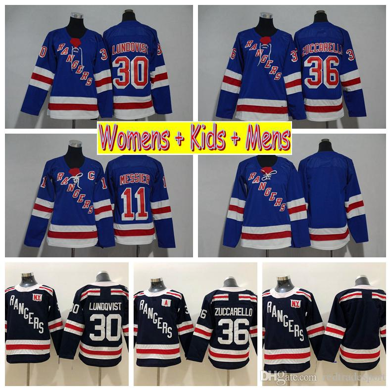 2019 2018 Ladies New York Rangers Hockey Jerseys 30 Henrik Lundqvist 36  Mats Zuccarello 11 Mark Messier Kids Womens Mens Stitched Hockey Shirts  From ... 95a0c4bc02