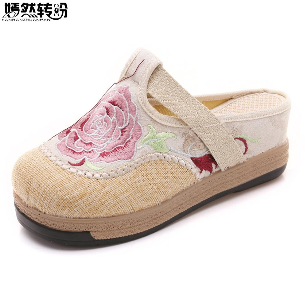 zapatillas zapatos chinos algodón Comprar mujer de para wTXZiOuPk
