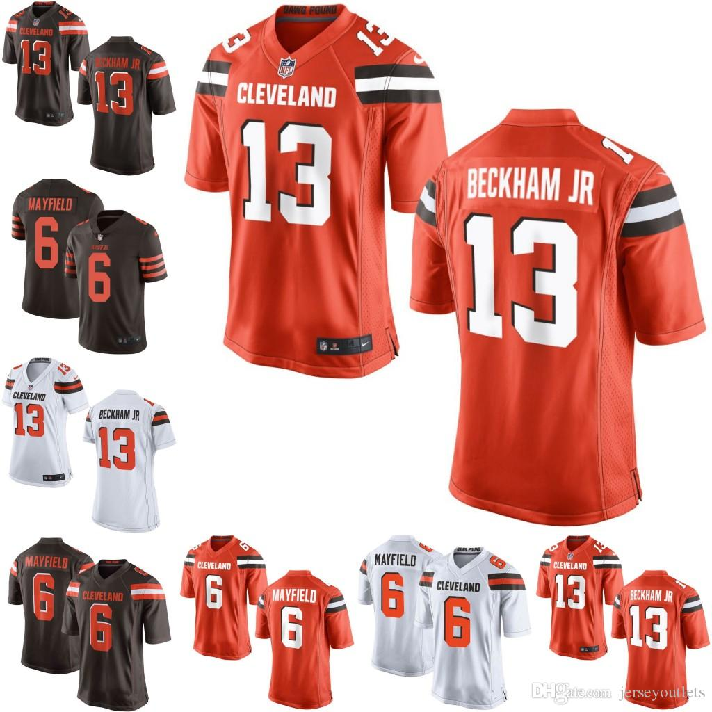 meet 4195c 0c078 13 Odell Beckham Jr Men youth women browns Camo Denzel Ward 6 Baker  Mayfield Myles Garrett Jarvis Landry Nick Chubb Custom jersey 01