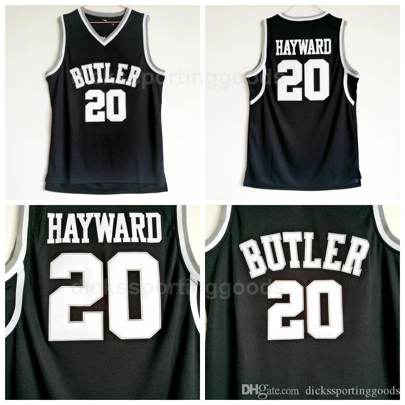 brand new a1e54 9c9ac NCAA College Butler Bulldogs 20 Gordon Hayward Jersey Men Basketball  Uniform Team Black Color Breathable University Hot Selling