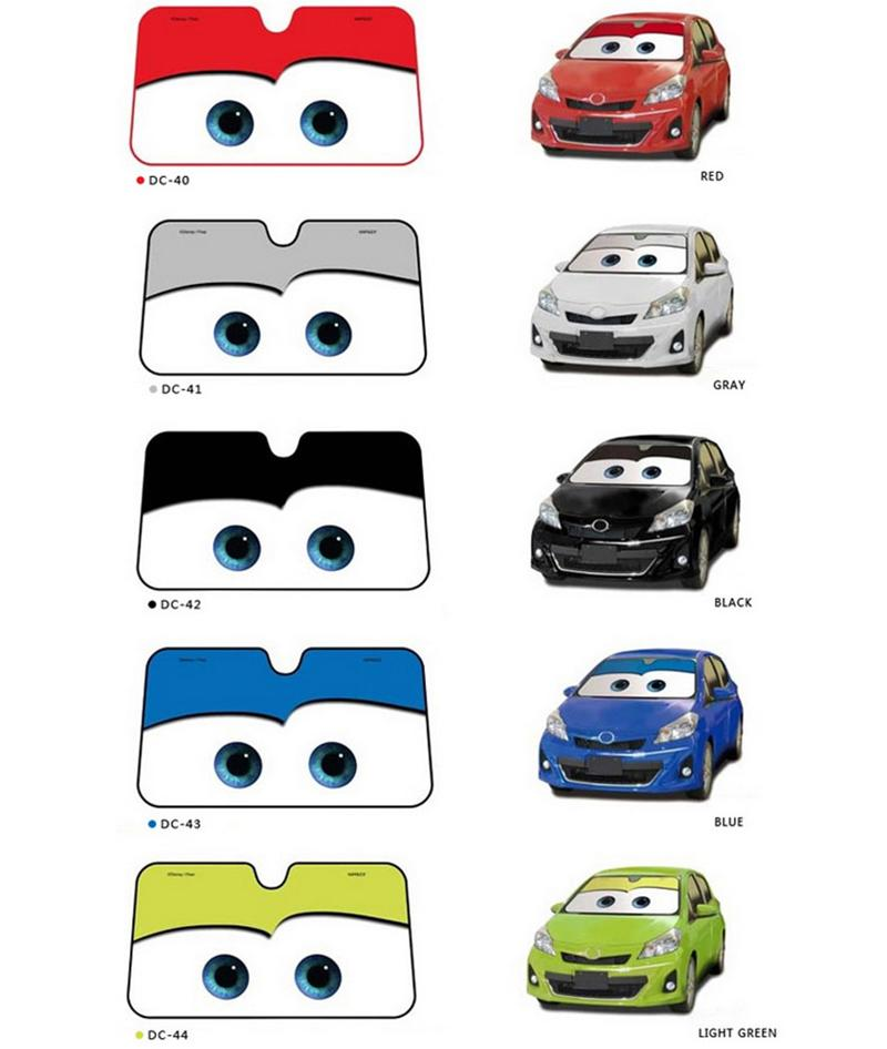Cute Cartoon Eyes Car Windshield Sunshade Auto Window Windscreen Cover Sun  Shade Car Covers Car Solar Protection Exterior Auto Body Parts Exterior Auto  ... 5dc6b8c4d32
