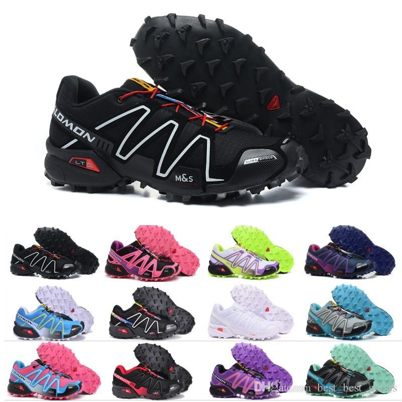 hot sale online 3a48c d2696 Salomon Speedcross 3 Herren Damen Outdoor Schuhe Speed Cross 3 CS Rosa  Schwarz Grün Lila Blau Athletic Laufsport Turnschuhe 36-46