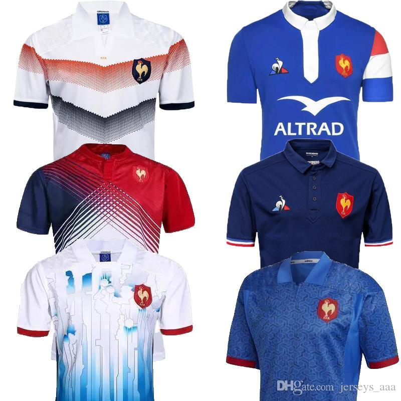b52410788 AAA+ Thailand s manufacturing 18 19 France Shirts Rugby Maillot de French  Rugby Jersey 2018 2019 New France Super Rugby Jerseys Size S-