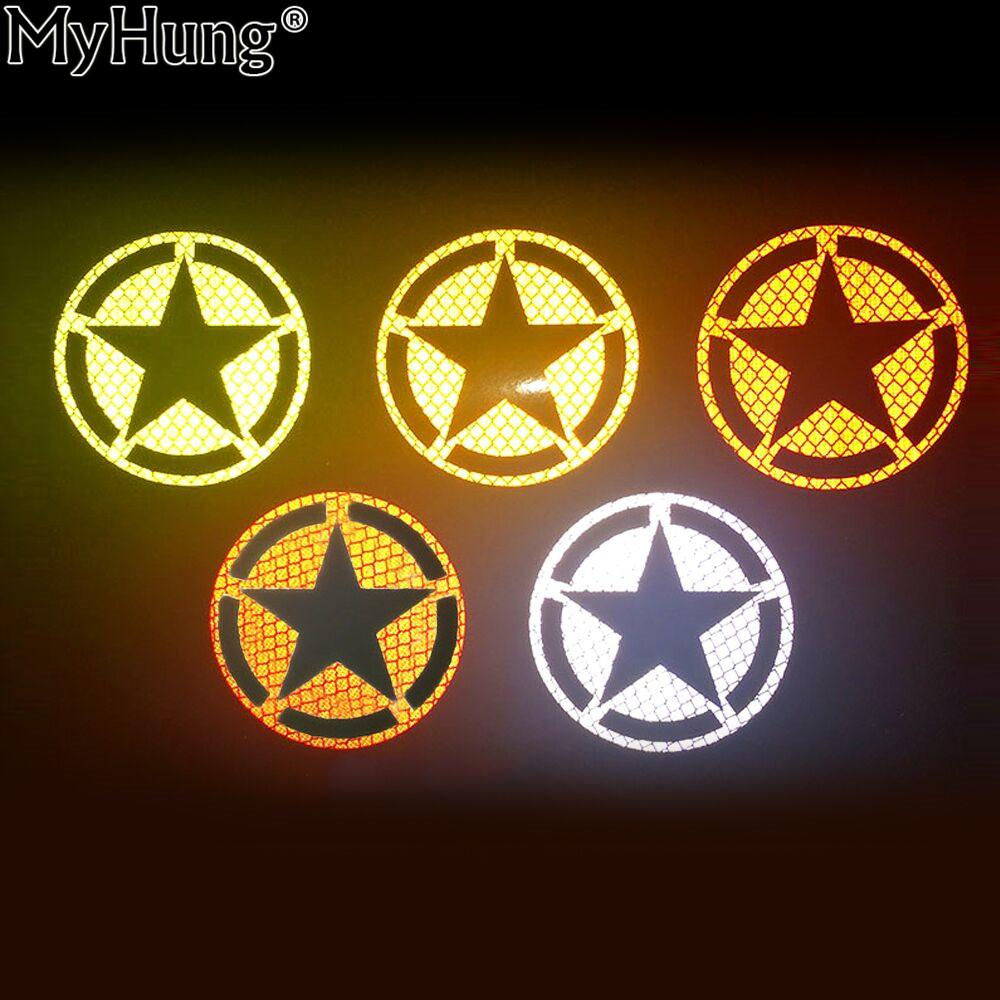2019 xterior accessories car stickers us army star reflective car decal bumper sticker for all cars suv motorcycle autocycle bicycle bike spec
