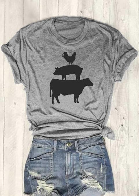 093a06ad Women's Tee Cock Pig Cow Short Sleeve T-shirt Women Funny Graphic Basic Tees  Fashion Clothes T Shirt Tops Drop Ship