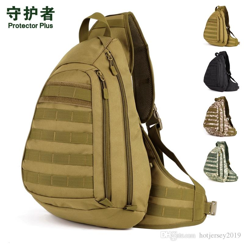 Protector Plus X204 Outdoor Sports Bag Camouflage Nylon Tactical Military Trekking Pack Hiking Cycling Chest Pack Ipad Bag #288191