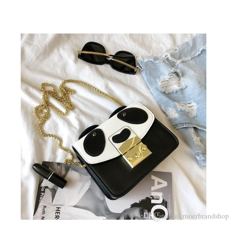 b16c7d990f6a17 Panda Designer Chains Bag For Women Shoulder Bag Cartoon Cute Little Panda  Handbags Messenger Cross Body Bags For Girls Clutch Purse Cross Body Purses  From ...