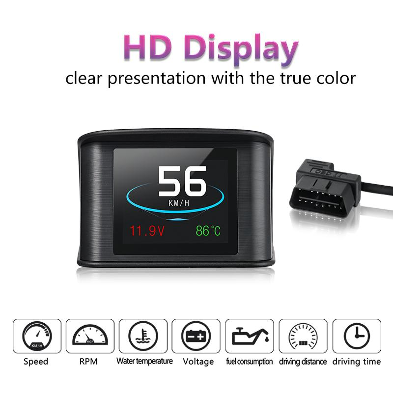 Vikewe 2.2 pollici P10 HUD Head Up Display Tachimetro per auto multicolore Proiettore digitale riflettente HUD Head Up Display dvr per auto