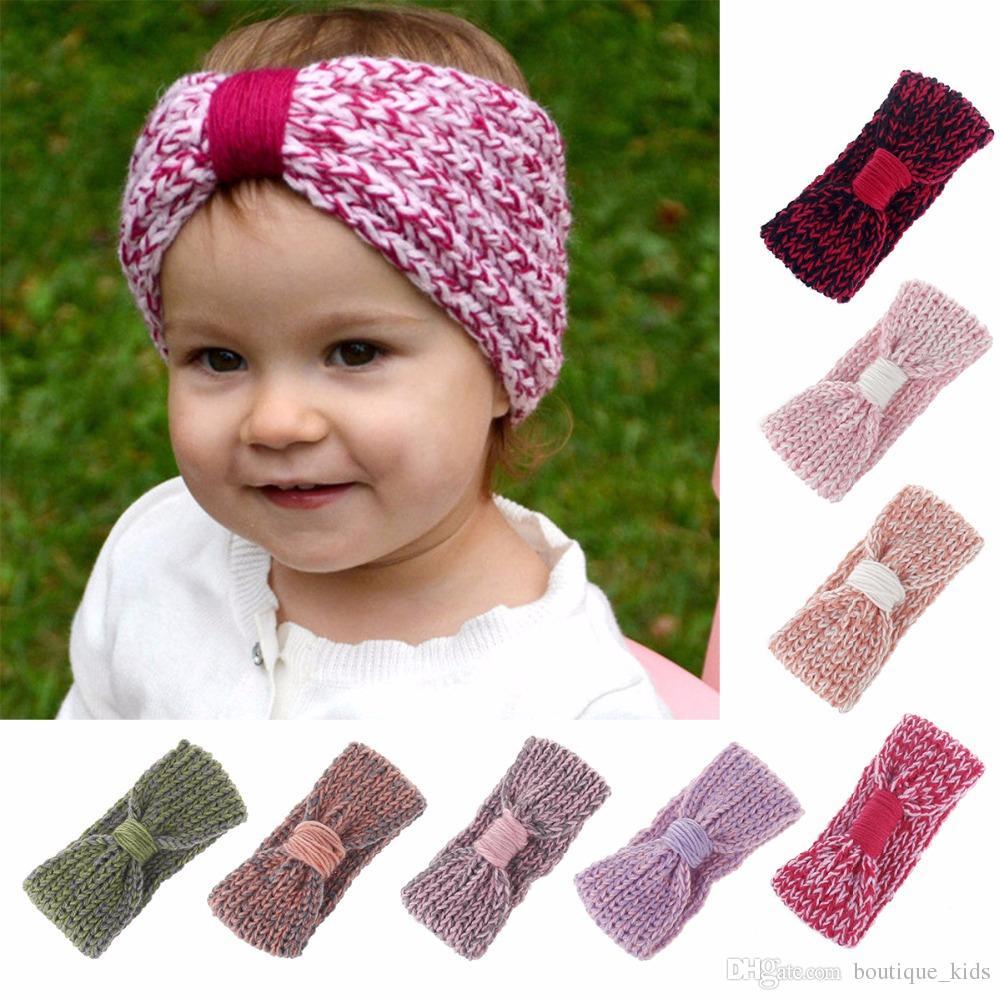 Knot Baby Headbands Bebe Girls Winter Crochet Hairband Newborn Head Wrap  Warm Knitted Bow Hair Band Kids Headwear Baby Accessories Babies Hair  Accessories ... 1255c05b6bfc