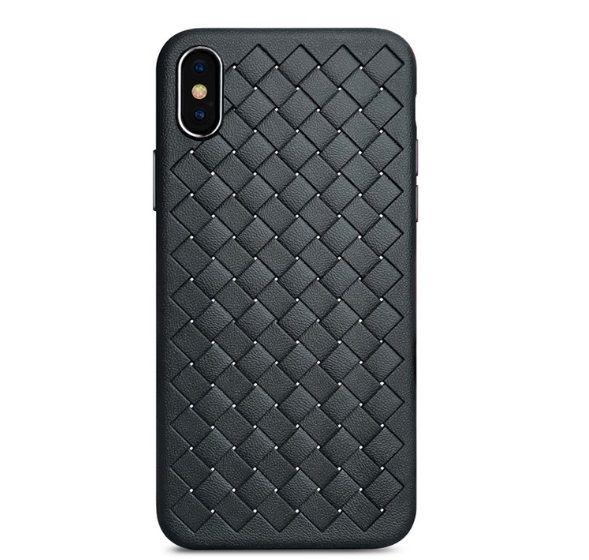 Lüks Silikon Telefon Kılıfı Izgara Dokuma Dokuma Kılıfları iPhone 6 6 s 8 7 Artı X XS Max Kapak Silikon Telefon Kılıfları