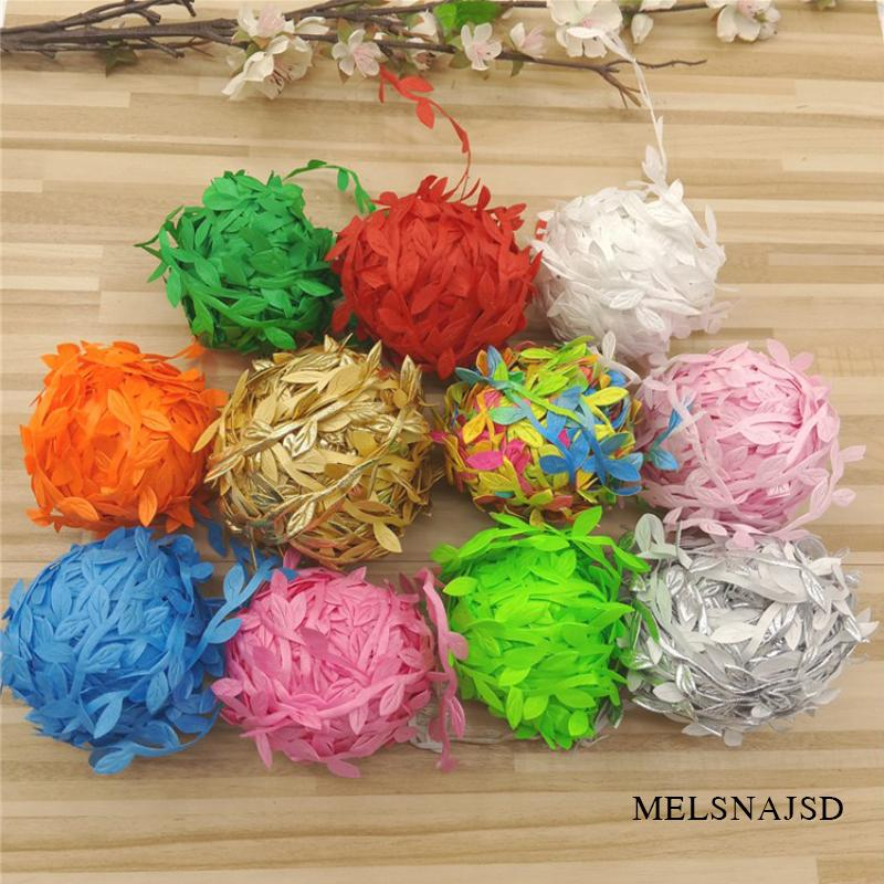 Melsnajsd 10M cheap Artificial flowers vine christmas for home wedding car decor accessories fake plants Leaf vine wreath gifts