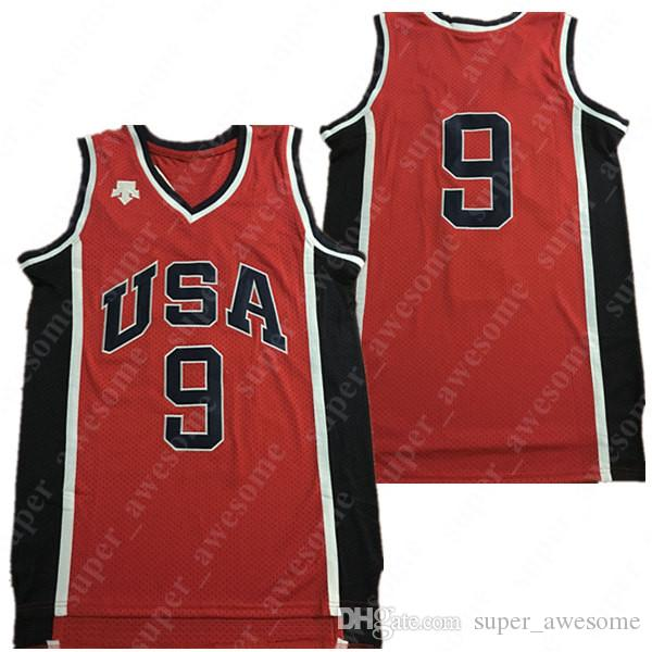 2019 1984 Michael  9 USA Team Basketball Jersey Red All Stitched Michael  Jerseys White Black From Super awesome 12457faf7eba