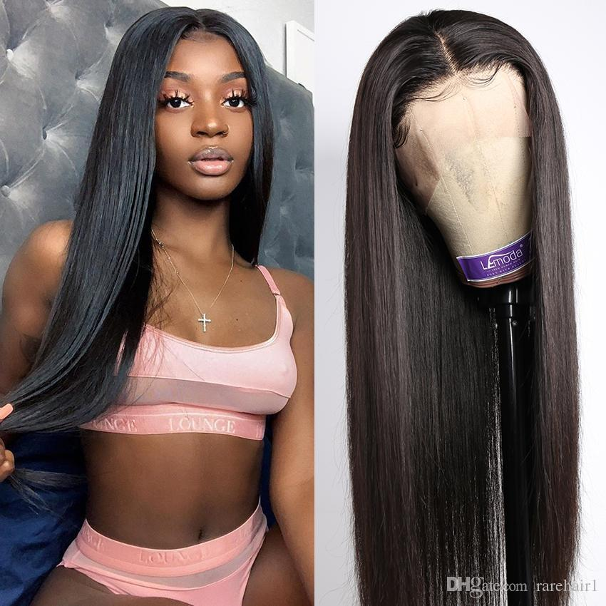 26Inch Straight 13*4 13*6 4*4 Lace Frontal Wig Peruvian Straight Lace Front Human Hair Wigs Pre Plucked Hairline Lemoda Remy Hair Wigs