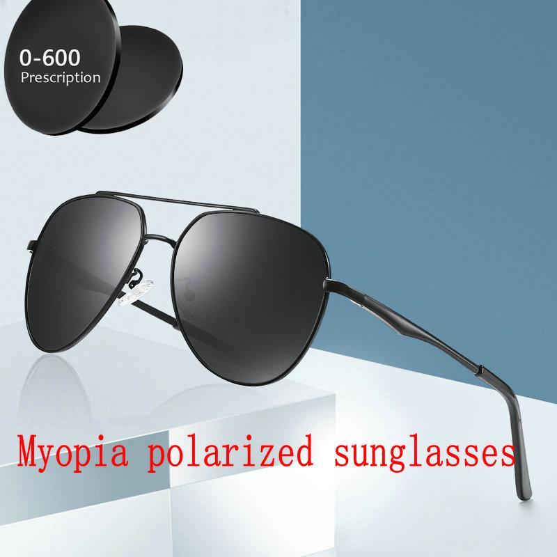 c092239177e1d Compre 2019 Diseñador De La Marca De Moda De Lujo Terminado Miopía Gafas De  Sol Polarizadas Hombres Cuadrados Polarizado Óptico Pesca Conducción Gafas  FML A ...