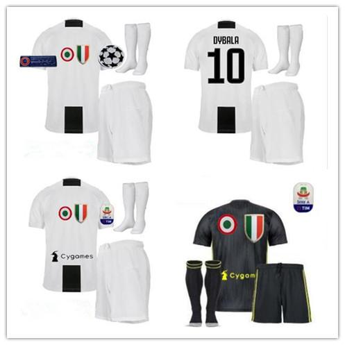 wholesale dealer 2aee0 0a619 new 2018 2019 best quality Juventus juve Jersey kit full sets + socks  HIGUAIN DYBALA Ronaldo soccer jerseys home football shirts adult