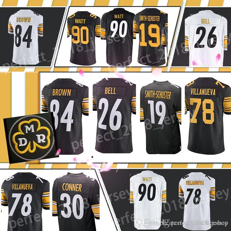 quality design a0a7d 8fb7d Pittsburgh Steelers Jersey james conner 30 84 Antonio Brown 19 Juju  Smith-Schuster 90 T.J. Watt 50 Ryan Shazier 7 Ben Roethlisberger 26 Bell