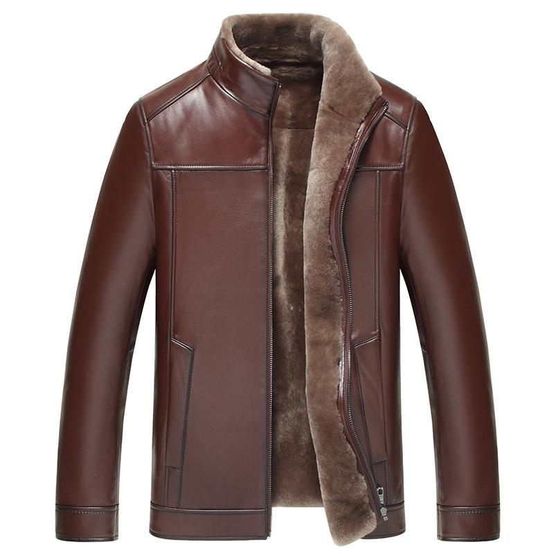 Jaqueta Masculino Jaqueta Couro Motorcycle Jacket The New Fur One Male Haining Leather Garment Jacket Collar Short Sheep Coat