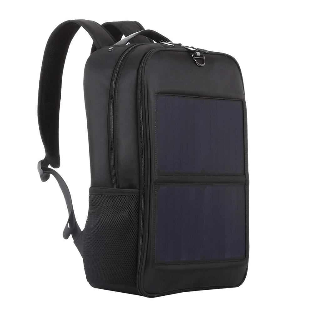 Haweel Solar Panel Backpacks Convenience Charging Laptop Bags for Travel 14W Solar Charger With Handle and Dual USB Charging P