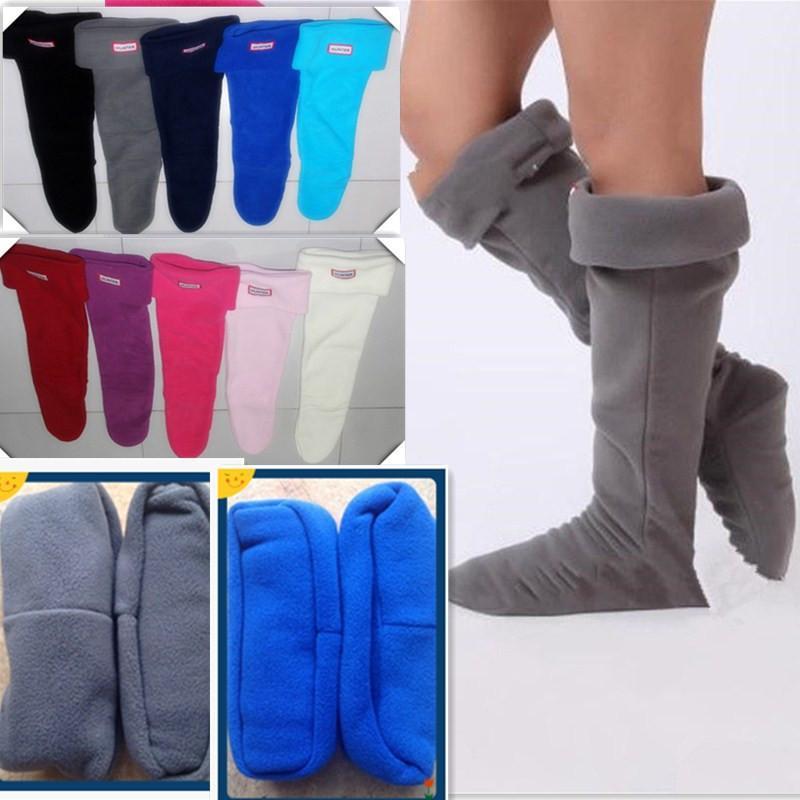 5d3e1d7d4 Unisex Rain Boots Socks 35-42 US Size 4-10 Fleece Boot Cuffs Winter ...
