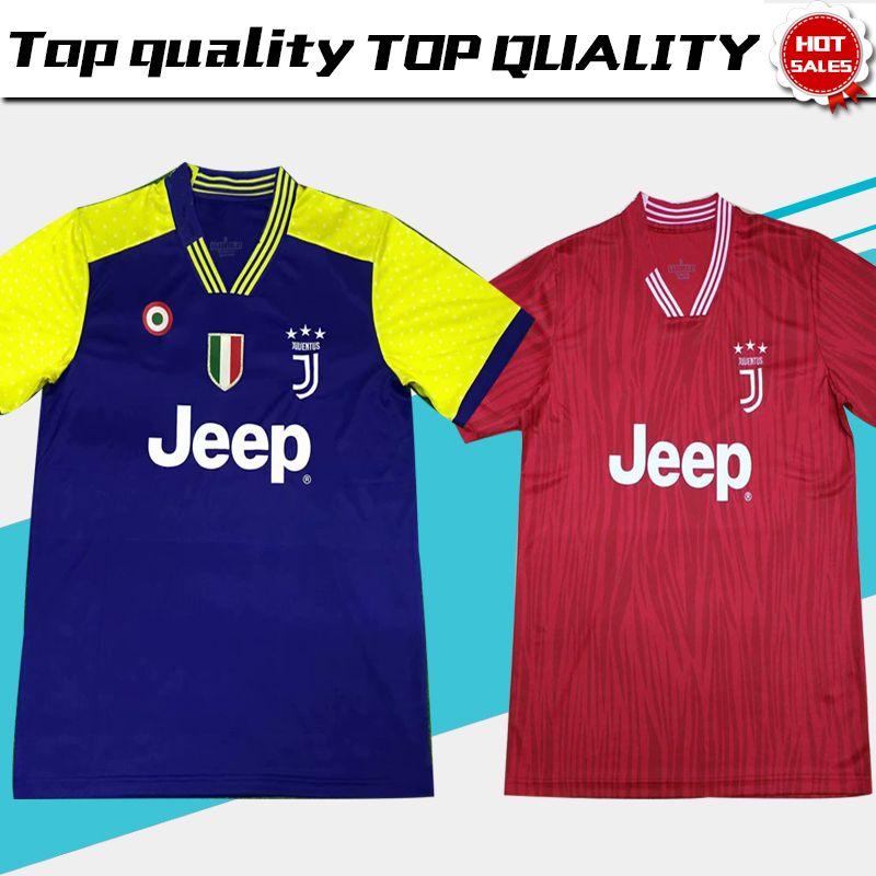 brand new de170 2c72f New Juventus 18/19 Red Soccer Jersey #7 RONALDO #10 DYBALA blue Soccer  Shirt 2019 MANDZUKIC PJANIC BONUCCI short sleeve Football Uniform