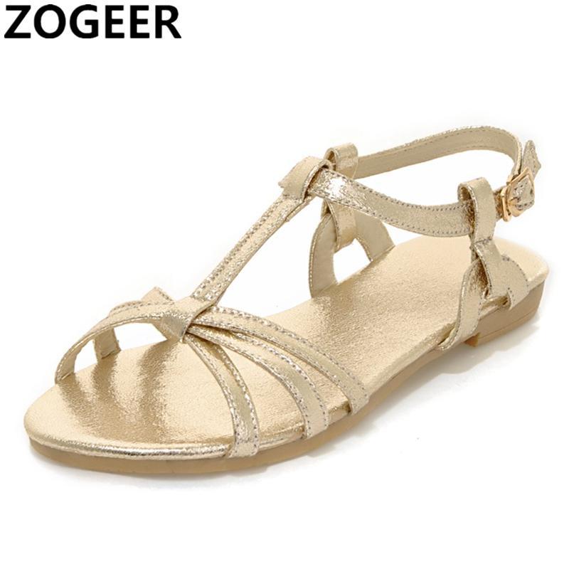 Oro Zapatos Sandalias Plata Plano Mujer Chanclas Tacón Verano 2019 Gladiador De Casual Playa Zapato uiPZwXTOk