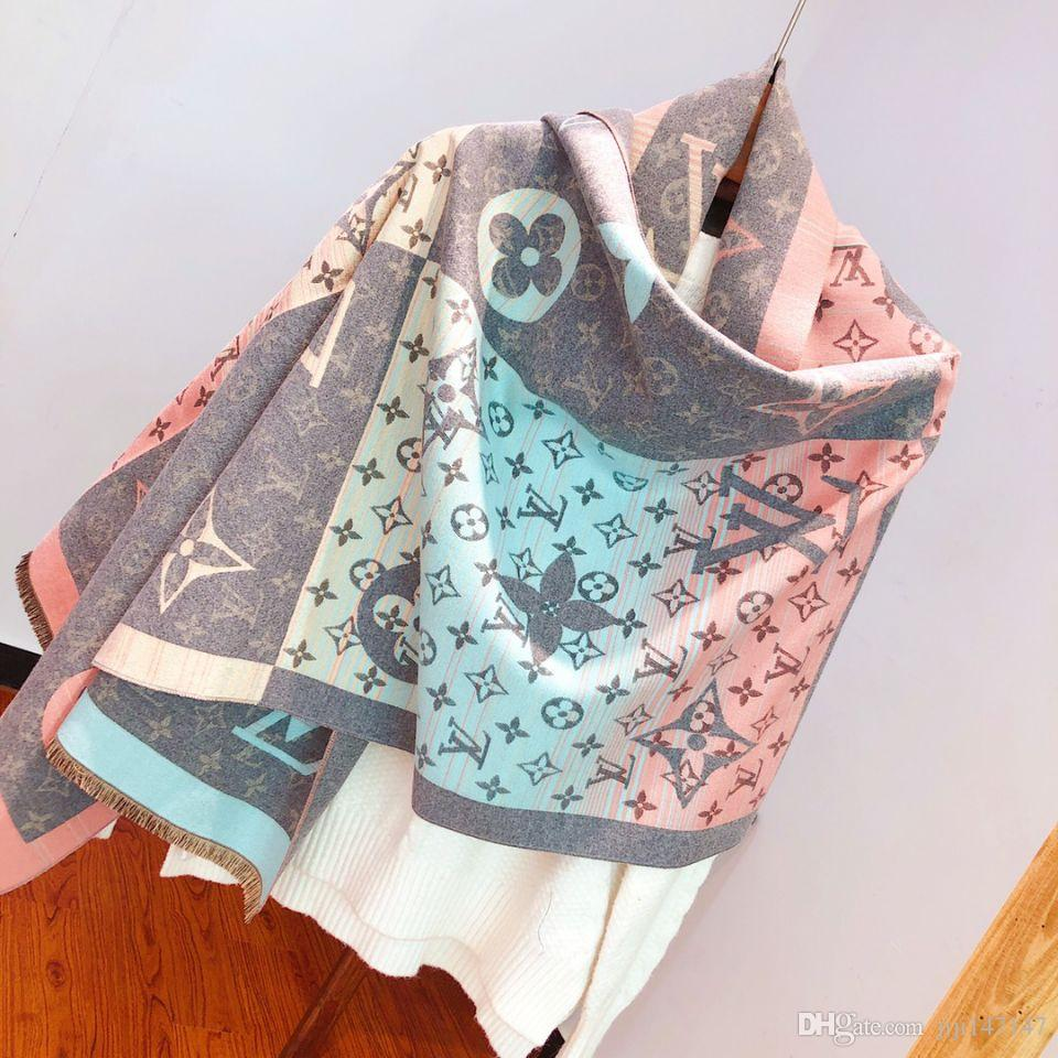 2019 fashionable men's and women's high-end cashmere scarves the latest styles of knitted jacquard cashmere scarves are 180*70cm