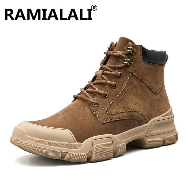 7c3473fa22 Compre Nuevos Hombres Botines Botas Altas Hombres Botas Casuales Moda Otoño  Invierno Cálido Piel Hombre Zapatos Hombre Calzado Al Aire Libre A  39.39  Del ...