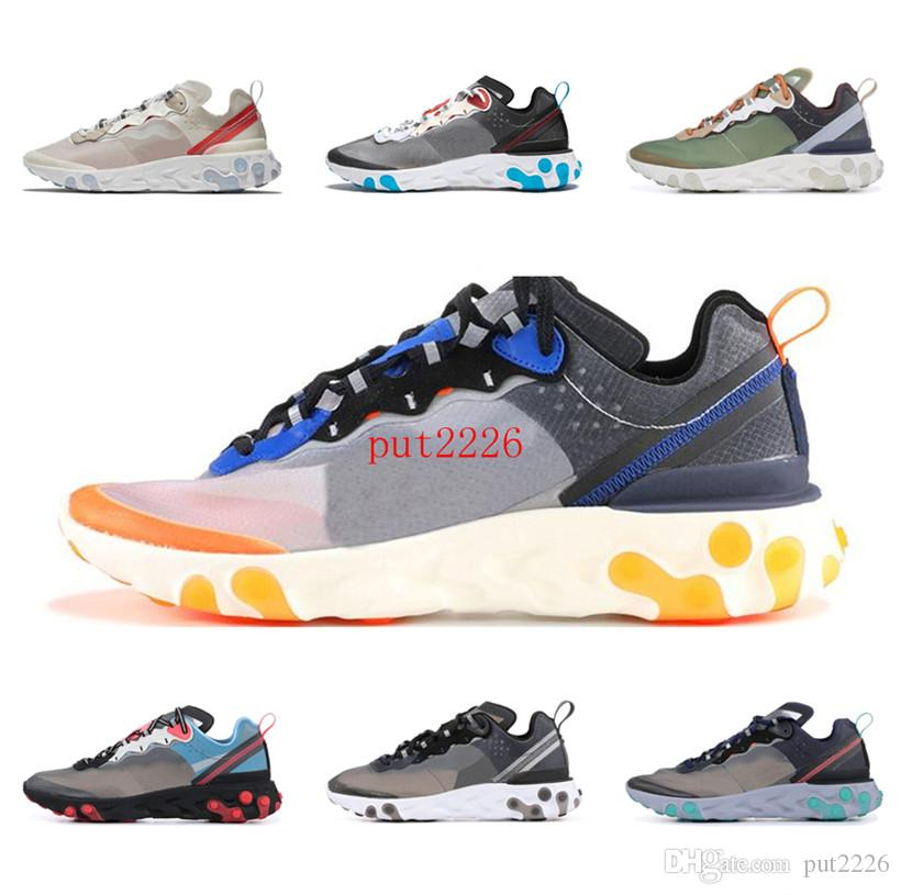 7616b7c204f4 2019 Epic React Element 87 Shoes White Black Neptune Green Blue ...
