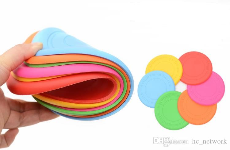 Soft Silicone Flying Disc Pet Dog Bite Resistant Frisbee Disk Pet Toy Training Silicone 6 Color Selection