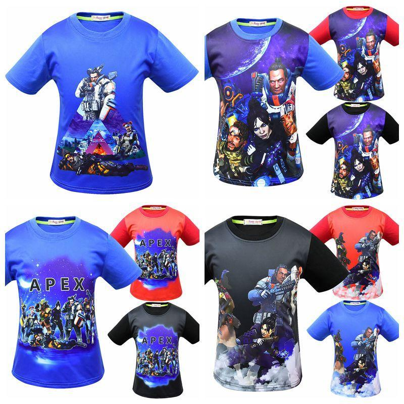2d8f524e2a6 12 Styles Baby Boys Apex Legends T-shirts Cotton Hiphop Funny Summer ...