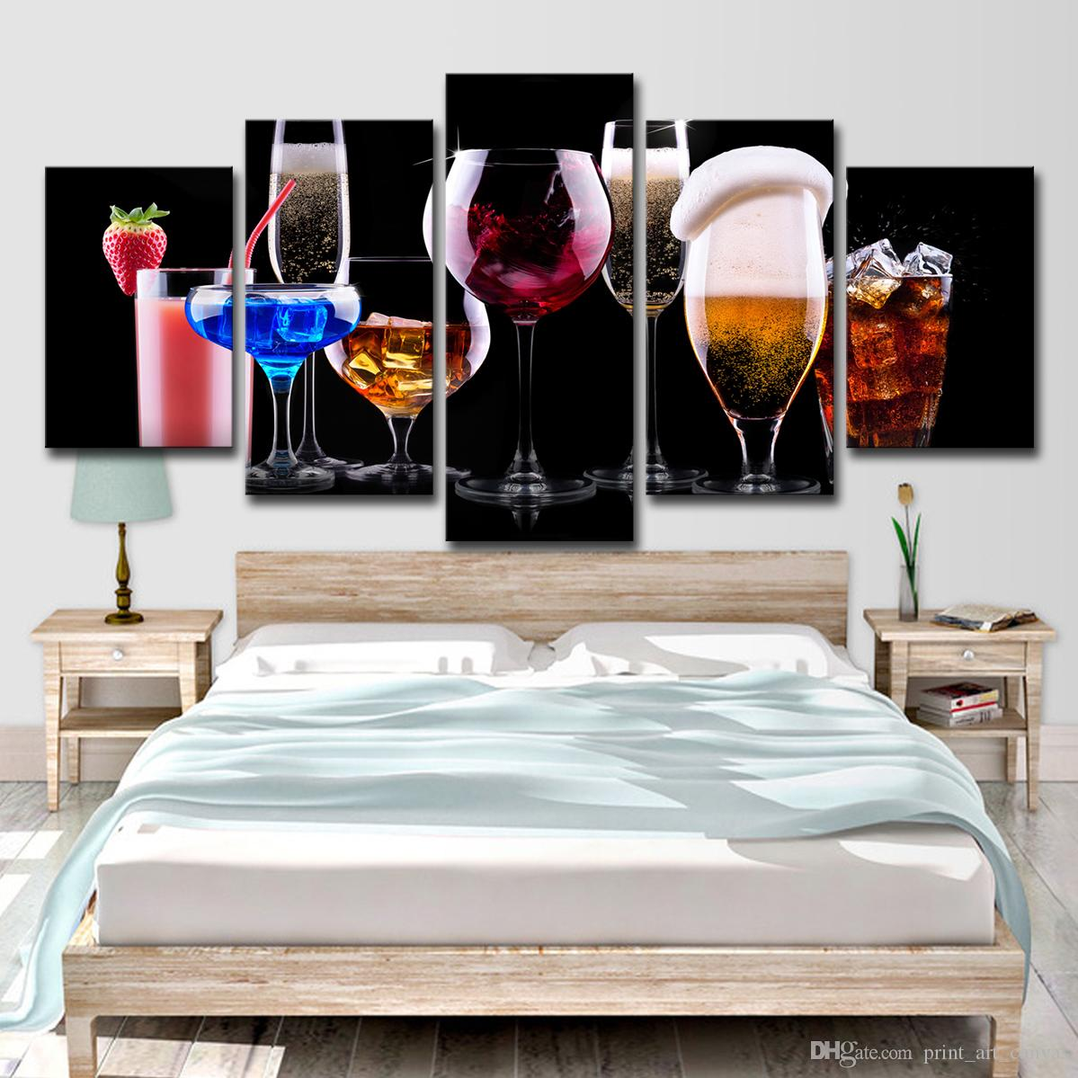Modern Wine Art  Wine Party Painting by Amy Giacomelli