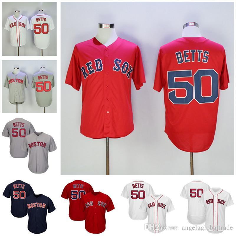 half off acf46 81fa3 Men's Boston Jerseys 50 Mookie Betts Baseball Jersey 2018 Champions World  Series Champions Home 100% Stitched embroidery baseball shirts
