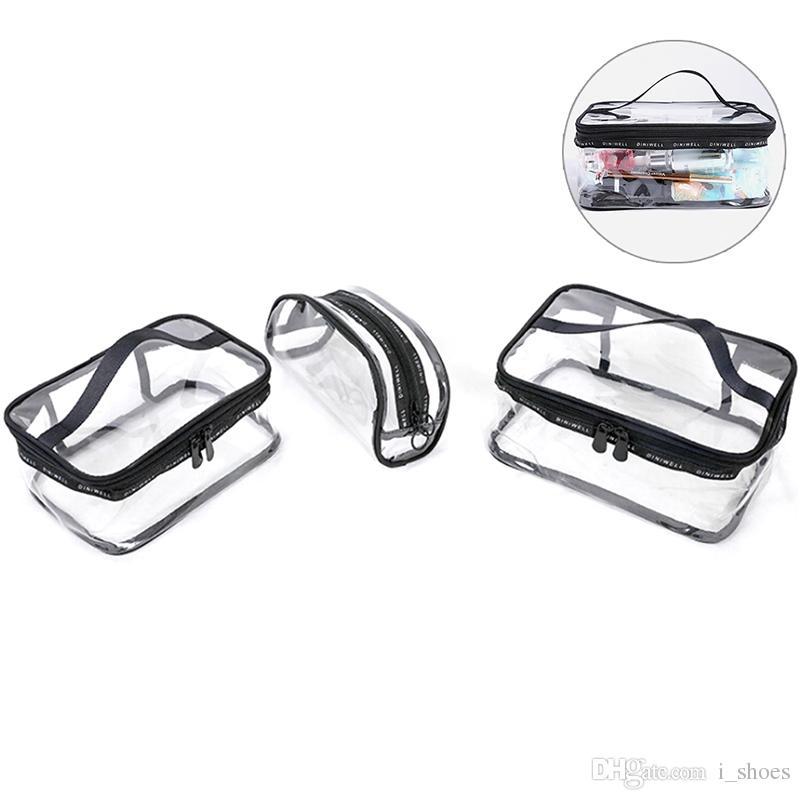 c6546583d3629b Transparent Cosmetic Bags PVC Waterproof Women S Travel Wash Organizer Pouch  Fashion Clear Beauty Makeup Case Accessories 3Sizes  301505 Leather Handbag  ...