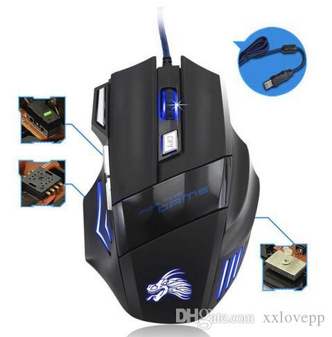 a5c6f66058d 2019 Hot Sale 5500 DPI LED Optical 7D USB Wired Gaming Mouse 7 Buttons Game  Pro Gamer Computer Mice For Macbook Air Laptop From Xxlovepp, $4.23 |  DHgate.Com