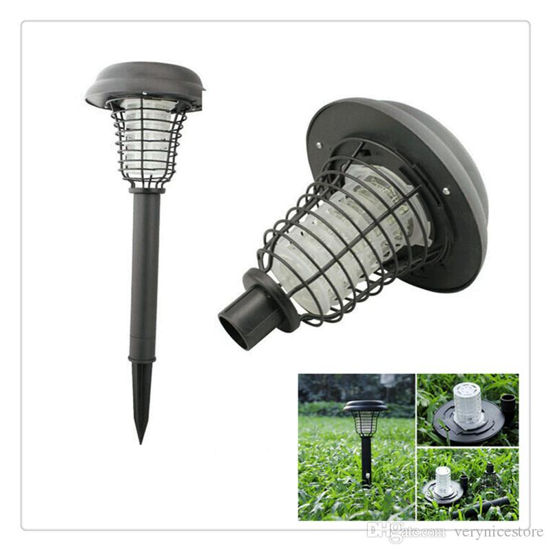 Mosquito Killer LED Solar Lamp Insect Mosquito Killer LED Solar Powered  Outdoor Bug Zapper Garden Lawn Path Patio