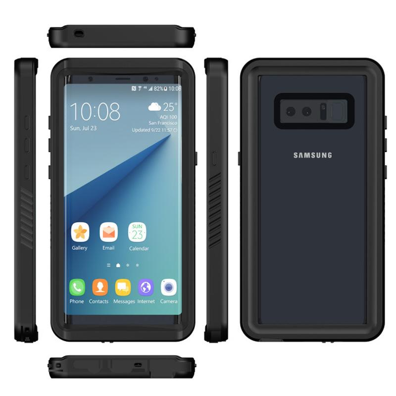 huge discount 9ac23 d5715 Full Seal Cover For Samsung Galaxy Note 8 Waterproof Swimming Diving Case  Shockproof Built-in Screen Protector