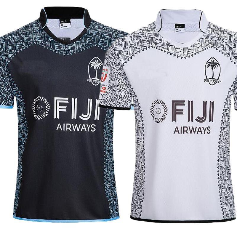9eabf47d98a 2018 2019 New FIJI Home Away White Balck Rugby Jerseys NRL National ...