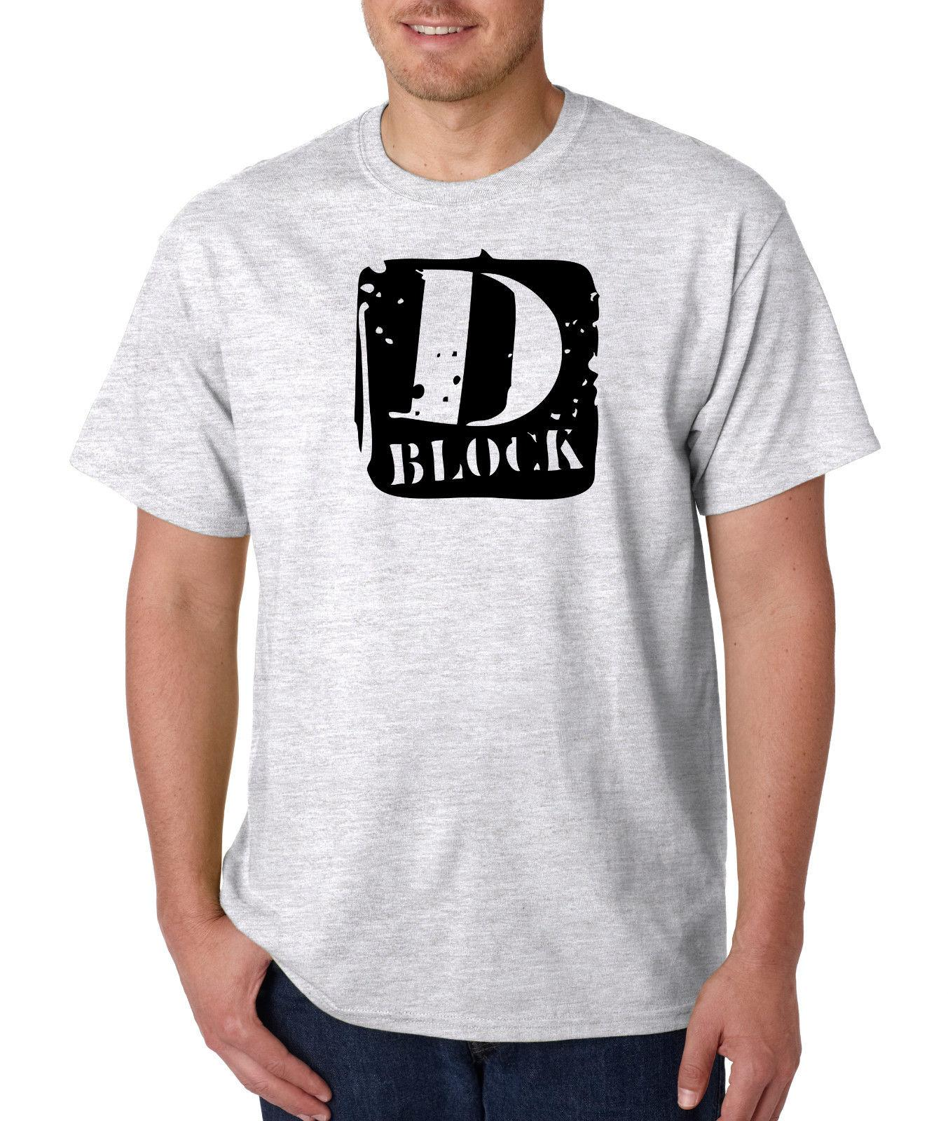 D Block Logo T Shirt Classic Hip Hop Tee Rap T-Shirt Vintage Style Jadakiss Lox Funny free shipping Unisex Casual
