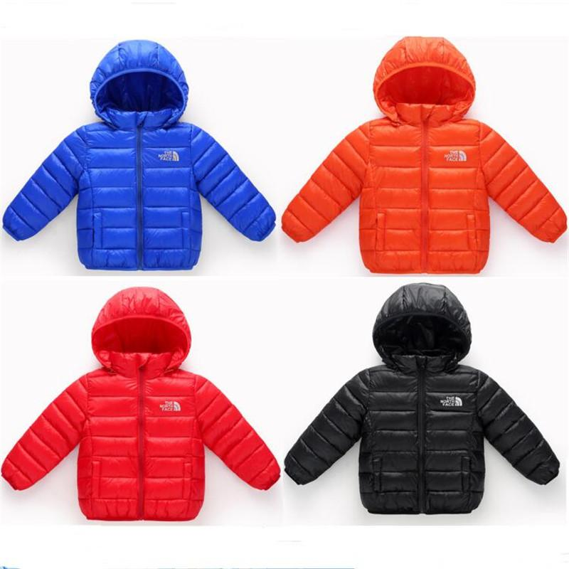 32ab01d1ef Brand NF Kids Winter Down Coat Cotton Jackets The North Kids Hooded Jacket  Boys Girls Face Outdoor Warm Light Zipper Coats Outwear Online with   90.72 Piece ...