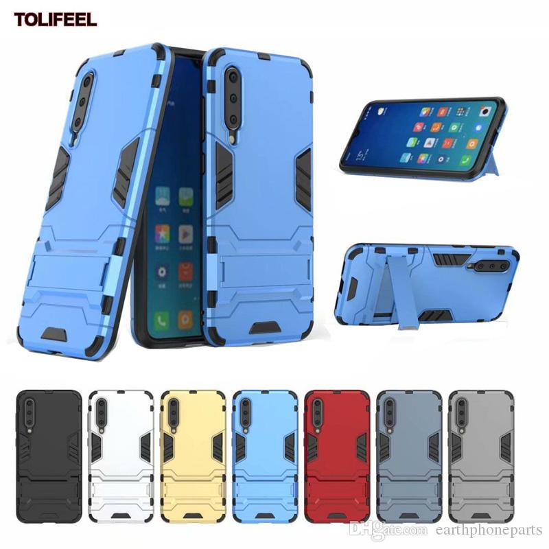 2d95a1e8208 For Xiaomi Mi 9 SE Case Silicone Robot Armor Shell Hybrid Rugged Rubber  Cover Kickstand Hard PC+TPU Double Protection Stand Cases Spigen Cell Phone  Cases ...