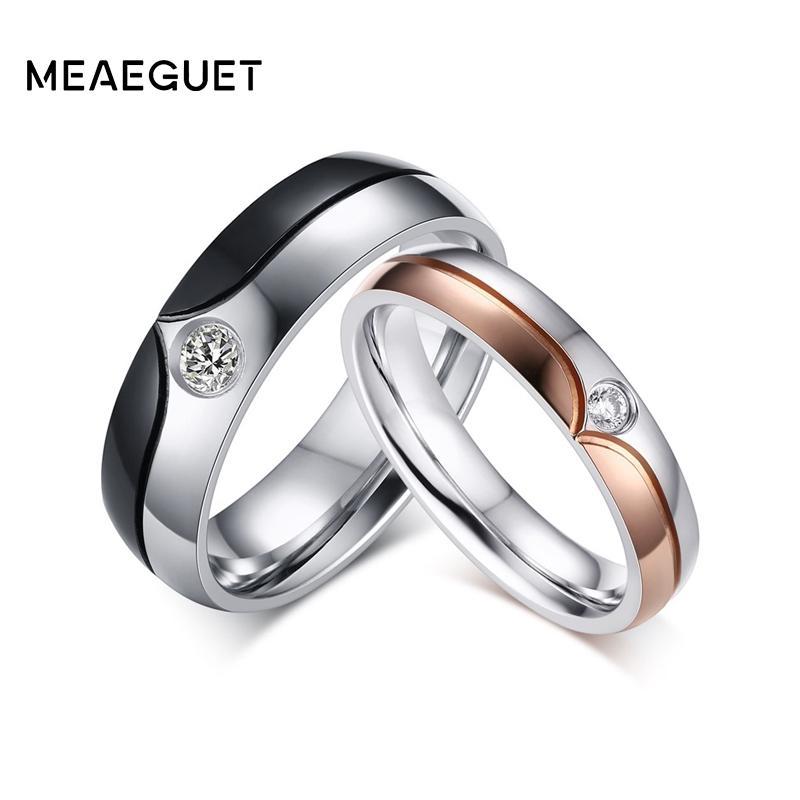 086cd4eb66 2019 Ring For Meaeguet Romantic Wedding Couple Rings For Men Women ...