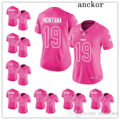fc822b62 Kansas City MEN WOMEN YOUTH 15 Patrick Mahomes II 10 Tyreek Hill Limited  Jersey Football Chiefs Pink Rush Fashion