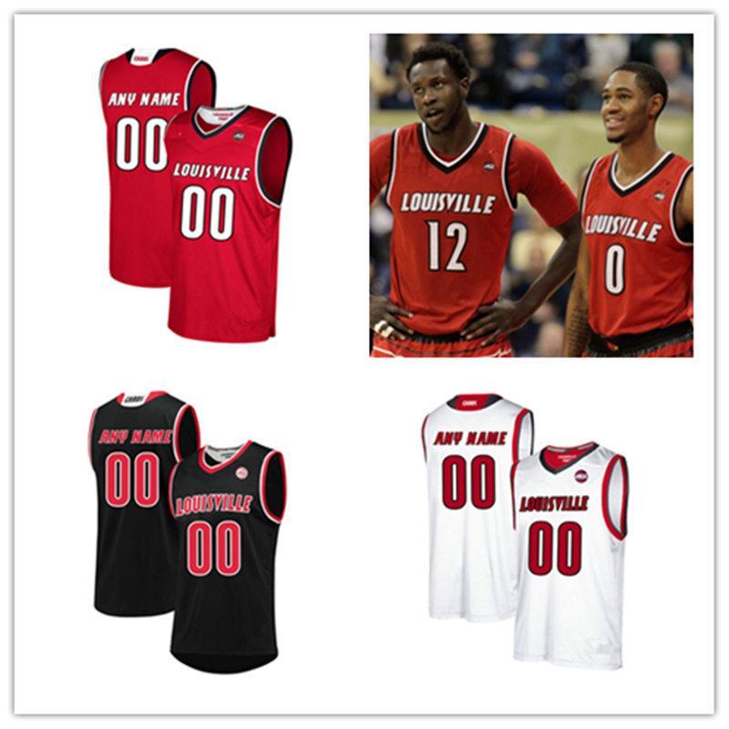 best website b9f07 874a6 Custom NCAA Louisville Cardinals Basketball Jersey Akoy Agau Malik Williams  Wyatt Battaile V.J. King Steven Enoch Louisville Cardinal Jersey