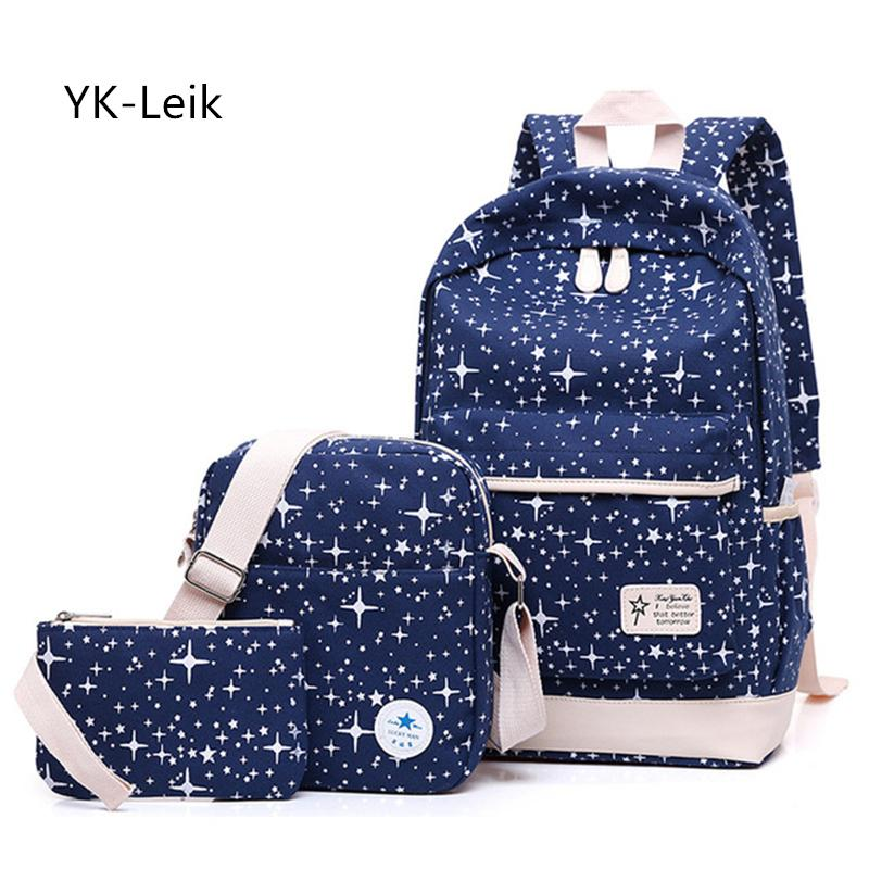 aa1e48d9d720 2019 FashionYK Leik Children Backpacks School Backpack Star Printing School  Bags For Teenager School Bag For Grils Mochila Escolar Schoolbag Bags  Rucksack ...